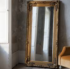 carved louis full length mirror gold