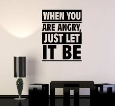 Wall Decal Just Let It Be Quote Inspirational Office Words Vinyl Stick Wallstickers4you