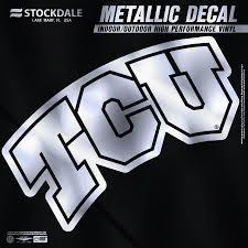 Tcu Horned Frogs 12 Metallic Car Decal