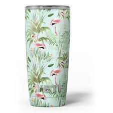The Tropical Flamingo Scene Skin Decal Vinyl Wrap Kit Compatible With The Yeti Rambler Cooler Tumbler Cups Walmart Com Walmart Com
