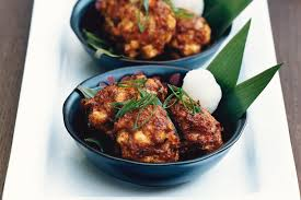 Mackerel balls with tofu and miso