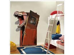 New Cartoon 3d Dinosaur Pvc Broken Wall Stickers For Living Room Home Wall Art Decor Diy Removable Decals Kids Gift Newegg Com