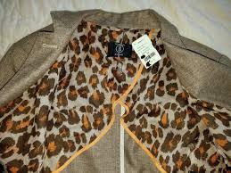 NWT $898 Bogner Adeline Brown Notch Lapel Woven Linen Blazer ...