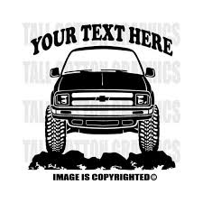 Chevrolet Chevy S10 1994 1996 Custom Outdoor Vinyl Decal