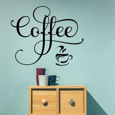 Kitchen Wall Decal Fancy Coffee Word Farmhouse Lettering