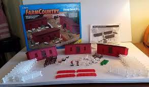 Ertl Farm Country Sheep Farm Set Toy Barn Sheep Goat Fence Gates 1 64 Scale Farm Toy Display Toy Barn Sheep Farm