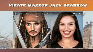 pirate makeup jack sparrow costume