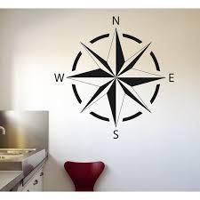 Breakwater Bay Star Compass Vinyl Wall Decal Wayfair
