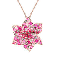 flower pink sapphire and diamond