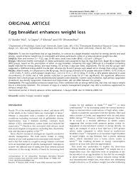 pdf egg breakfast enhances weight loss