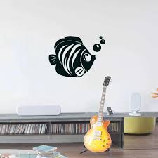 Fish With Bubble Wall Decal Home Decoration Nautical Wall Art Sticker Removable Decals Diy Mural Decor Wall Stickers For The Home Wall Stickers Home From Onlinegame 12 66 Dhgate Com