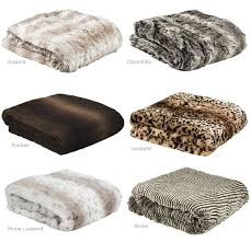 faux fur large throw rug 150 x 200cm