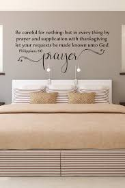 Prayer With Thanksgiving Let Your Requests Be Made Known To Etsy In 2020 Scripture Wall Decor Scriptures Wall Scripture Vinyl Wall Art