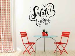 East Urban Home Salute With Wine Glasses Wall Decal Wayfair