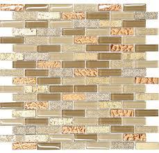 brown gold glass travertine mosaic