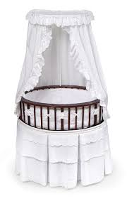cherry elite oval bassinet with white