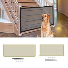 Tall Pet Dog Gate Retractable Safety Guard Foldable Toddler Stair Gate Isolation Ingenious Mesh Dog Fence Indoor Outdoor Houses Kennels Pens Aliexpress