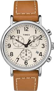 men s timex weekender chrono brown