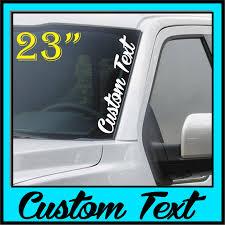 Custom Text Windshield Banner Decal Vwdecals Com