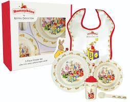 5 abc piece red each bunnykins set