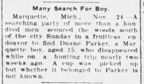 Duane Parker Missing Boy - Newspapers.com