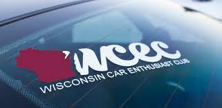 Wisconsin Car Enthusiast Decal Tm Wisconsin Car Enthusiast Club