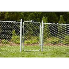 4 Ft H X 3 5 Ft W Galvanized Steel Chain Link Fence Gate In The Chain Link Fence Gates Department At Lowes Com