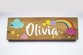Personalised Bedroom Door Signs Wooden Name Plaque Hand Hand Painted Signs Bedroom Door Signs Painted Signs