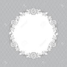 Vector Floral Corona De Peonias Para Invitaciones De Boda