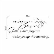 pray bible quote christian home god bless wall decals sticker