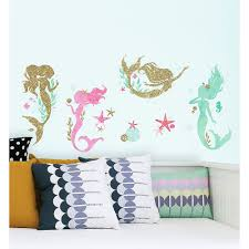 Mermaid Wall Decals 21ct Party City