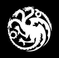 Targaryen Dragon Game Of Thrones Emblem Vinyl Die Cut Decal Sticker Texas Die Cuts