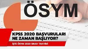 2020 KPSS başvuruları ne zaman? KPSS başvuru tarihleri 2020 ÖSYM ...