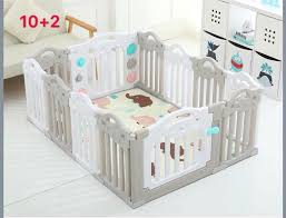 Cod Ok High Quality Gray Folding Playpen Baby Fence 10 2 Panels Babies Kids Others On Carousell