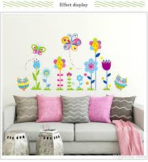 Baseboard Colorful Flowers Owl Butterfly Wall Stickers Removable Living Room Bedroom Decoration Mural Decal Home Decor Sticker Horse Wall Decals Horse Wall Stickers From Lotlot 3 14 Dhgate Com
