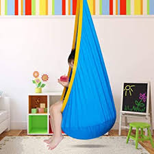 Amazon Com Bhorms Pod Swing Chair For Kids Hanging Chair Nook Tent Hammock Pod Kids Swing Hanging Seat Hammock Nest For Indoor And Outdoor Fushcia Garden Outdoor
