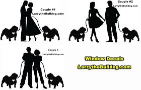 Larry S Bulldog Shop Couples And Bulldogs Car Decal 3 Different Designs 11 99 Http Www Larrythebulldog Com Couples D Couples Decals Car Decals Couples