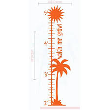 Palm Tree Growth Chart Vinyl Decals Beach Baby Room Nursery Wall Art Stickers 10 5x39 Inch Orange Walmart Com Walmart Com