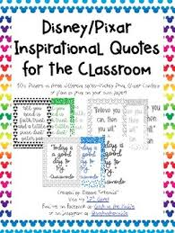 inspirational disney pixar quotes for the classroom posters tpt