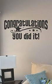 Amazon Com Lplpol Congratulations You Did It Vinyl Wall Art Decal Sticker Home House Decor Goal Home Kitchen
