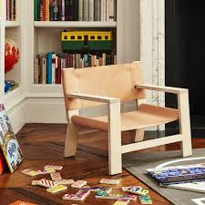 Kids Leather Lounge Chair Franklin Emily