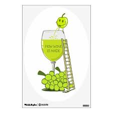 How Wine Is Made Funny Drawing Wall Decal Zazzle Com