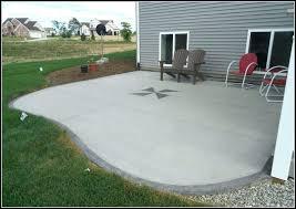diy concrete patio ideas poured painted
