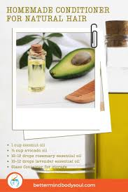 15 natural hair conditioner recipes