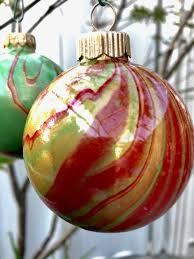 pour painted glass ornaments lemoyne