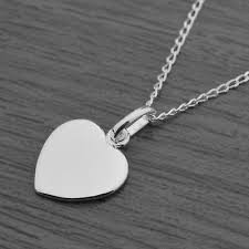 genuine 925 sterling silver flat heart