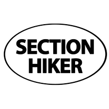 Section Hiker 3 X 5 Oval Car Decal