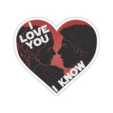 I Love You I Know Car Decal Sticker Red Passholder Magic