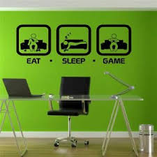 Gamer Wall Sticker Game Room Teenager Kids Room Playroom Decor Game Wall Decal Ebay
