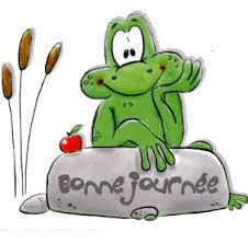 Bonne journée avec une grenouille - image animée GIF